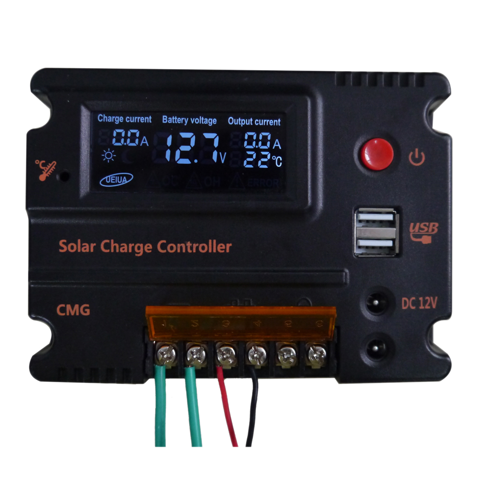 20A Solar Charge Controller Solar Panel Auto Switch Battery Regulator Temperature Compensation Solar Charge Controller 12V/24V 20a duo battery solar regulator solar charge controller 12 24v for two battery
