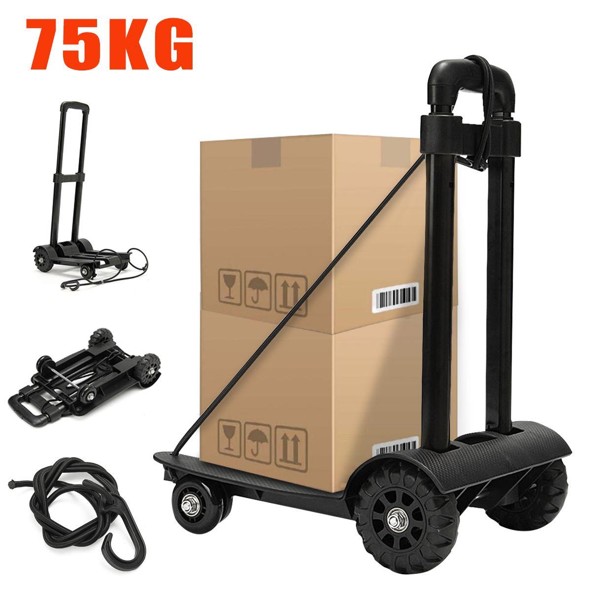 Transporteur de valise de bagage de roulette de chariot à caddie de 75KG avec le rouleau coulissant de poulie de 4 roues