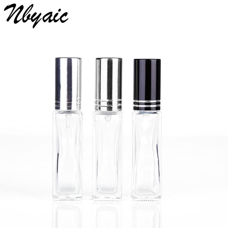Nbyaic 1Pcs 6ml 9ml Rectangular Glass Bottle Mini Perfume Bottle Spray Empty Bottle Portable Bottle
