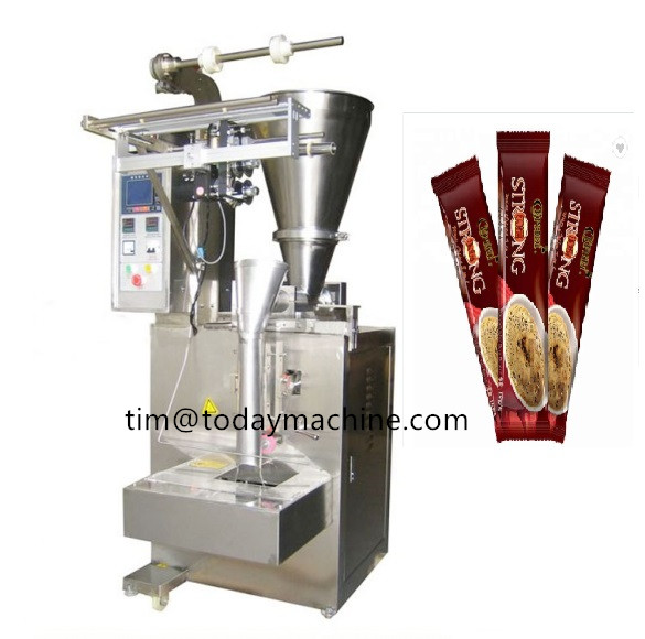 Automatic collar type vertical form fill seal machine with auger filler and touch PLC