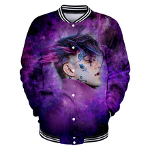 LUCKYFRIDAYF Harajuku lil peep Suicide Squad 3D Baseball Jacket Skull Print Autumn Women/Men Fashion Clothes
