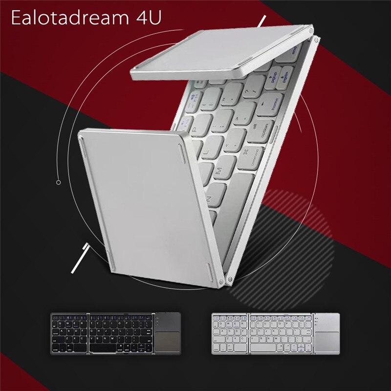 Pliage Tactile Sans Fil Bluetooth Clavier En Aluminium Pliable Universel Voyage Clavier pour iphone ipad tablet PC samsung amazon