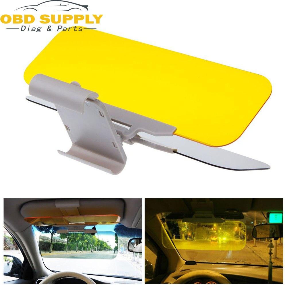 1Pcs Car Sun Visor HD Car Anti-Glare Dazzling Goggle Day Night Vision Driving Mirror UV Fold Flip Down HD Clear View Visor