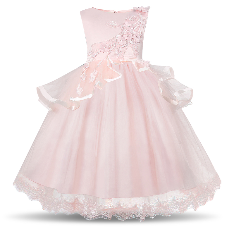 Flower Girl Dress For Girl Party Clothes Christmas Party Fancy Ball Dress Little Princess Children's Dresses Girls Wedding Gown girl party dress christmas dress for girl 2017 summer formal girl flower gir dresses junior girls prom gown dresses baby clothes