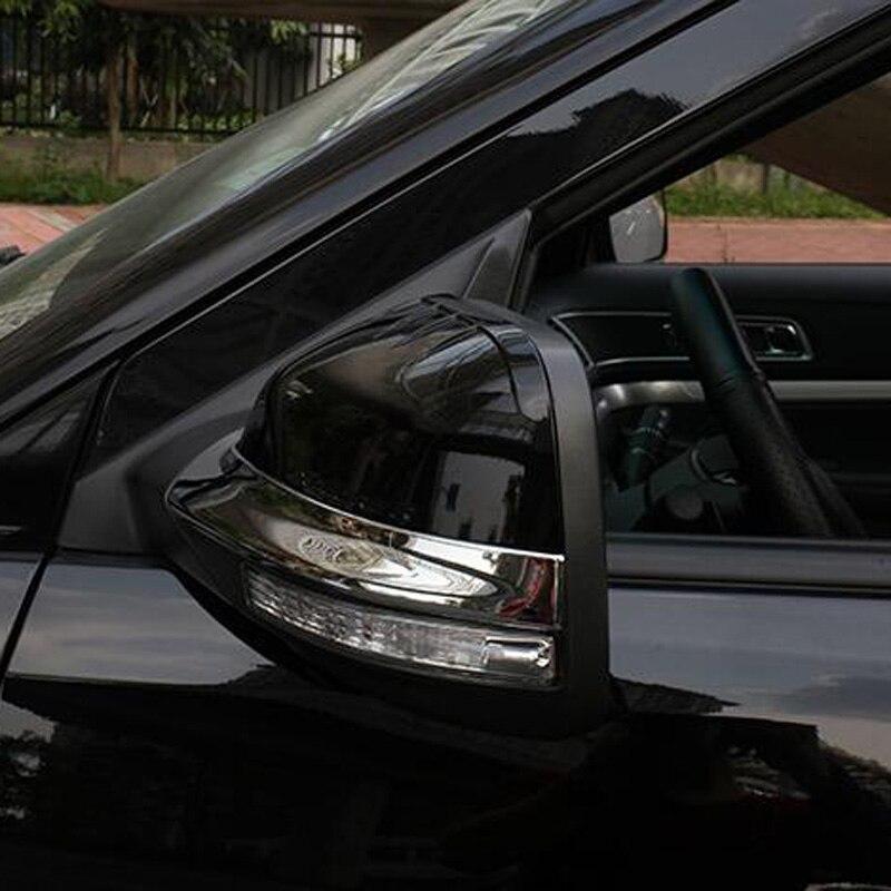 Prix pour Pour Ford Explorer Sport 2016 2017 ABS Chrome Voiture de coiffure Miroir Bande de Frottement Rétroviseur Décoration Cadre Couverture 2 pcs