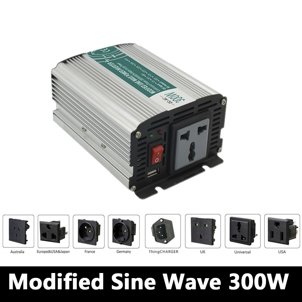 цена на 300W Modified Sine Wave Inverter DC 12V/24V/48V To AC 110V/220V,off Grid Inversor,car Inverter,Solar Power Inverter For Home Use