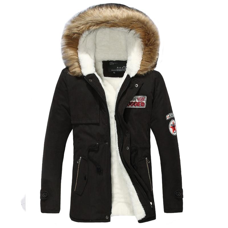 Daunenjacke Herren Winter plus Samt dicker warmer Wollfutter Kapuzen Anorak Schnee gegen den kalten Parkas Mantel Größe S-4XL Lovers