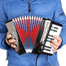 Детский 17-Key 8 бас мини маленький аккордеон Образовательный музыкальный инструмент Ритм Группа Игрушка музыкальный инструмент