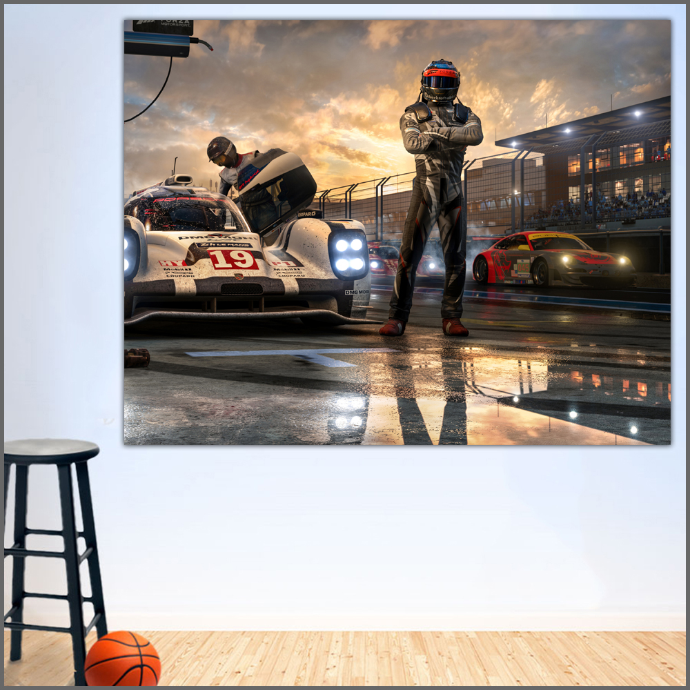 US $8.69 46% OFF|Wlong Printing Oil Painting Men Forza Motorsport Wall Art  Canvas Prints Pictures Home Decor For Living Room, Bedroom No Frame-in ...