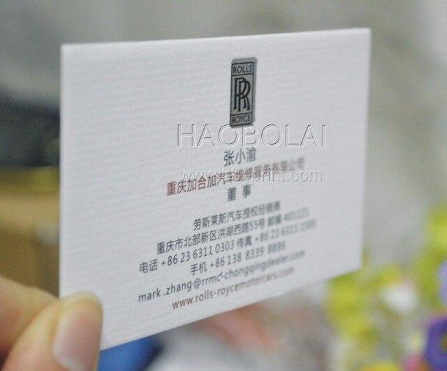 2 X 35 Carte De Visite Blanc Texture Papier 380 G