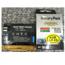 LP-E6 LP E6 Digital Camera Battery LP E6N For Canon EOS 5D Mark II 2 III 3 6D 7D 60D 60Da 70D 80D DSLR EOS 5DS