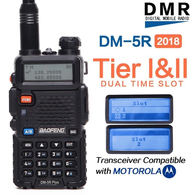 2020 Baofeng DM 5R בתוספת DMR Tier I ו ii רדיו מכשיר קשר דיגיטלי ואנלוגי מצב DMR מהדר פונקצית תואם עם Moto