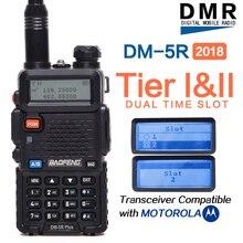 Walkie talkie dmr com função de repetidor, rádio digital e analógico, compatível com baofeng 2020 plus dmr tier i e ii com moto