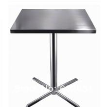 Коктейльный журнальный столик из нержавеющей стали, основание из нержавеющей стали, МДФ, топ, kd упаковка 1 шт./коробка, быстрая