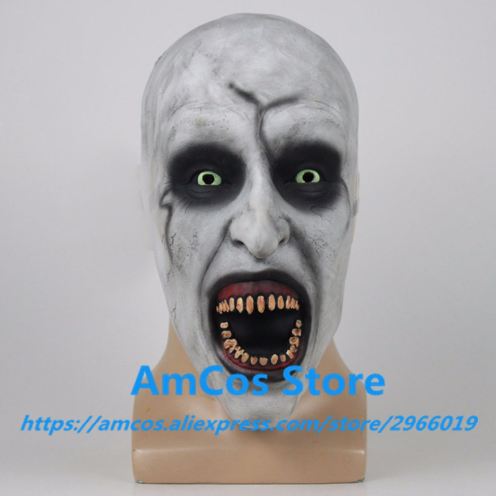 2018 The Nun Horror Mask Cosplay Valak Scary Half Face Latex Masks Helmet Halloween Party Props DropShipping3