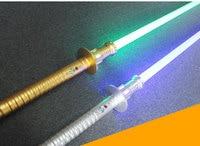 Новый YDD высокое качество косплей световой меч звук Led красный зеленый синий меч лазерный металлический меч игрушки подарки на день рождени