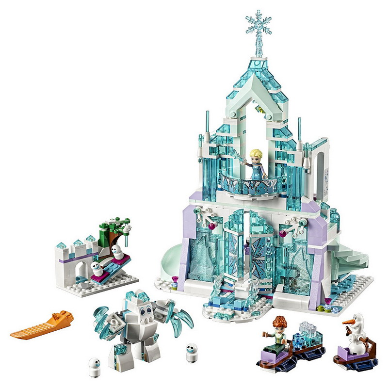 LEPIN 25002 Princess Elsa's Magical Ice Palace Figure Blocks Construction Building Bricks Toys For Children Compatible Legoe туфли детские 25002 р26 кожа карамель розовый ean 4606363295402