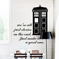 Projeto da arte de decoração para casa vinil barato popular Doctor Who caixa de adesivos de parede removível casa decoração famosa polícia dos desenhos animados decalques