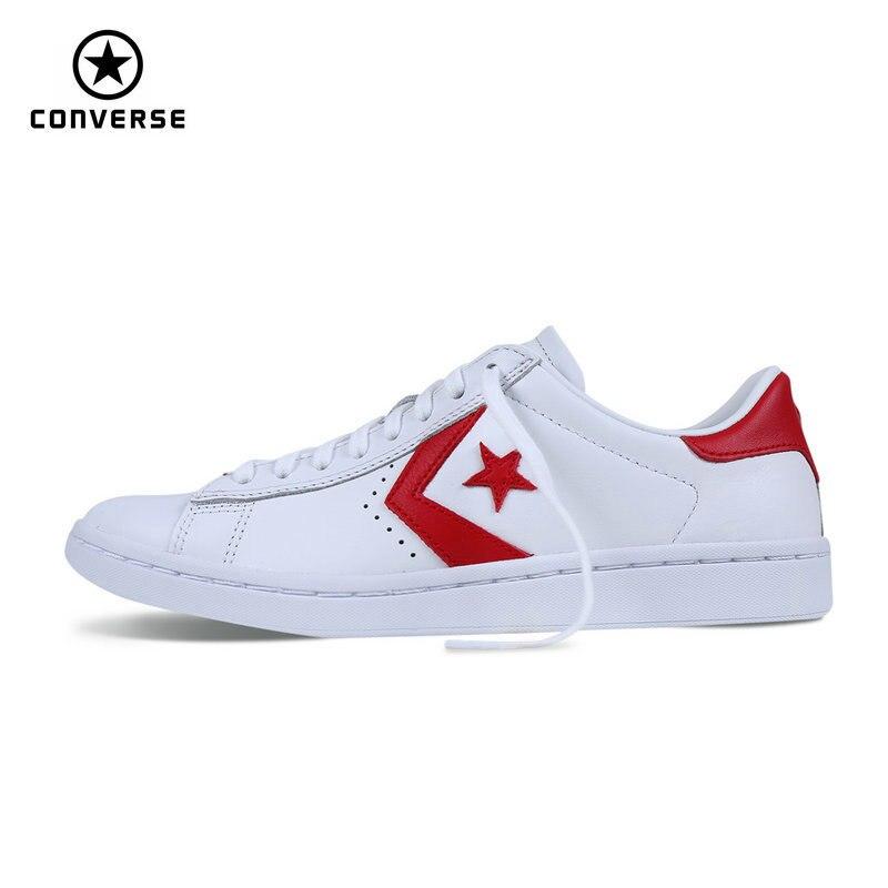 Новинка 2017 Converse Star Player стильные кожаные женские кроссовки весна-осень контрастного цвета Скейтбординг обувь 555933C ...