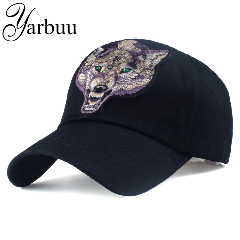 [YARBUU]Baseball cap with Wolf labeling snapback hat Cotton Casual caps for men new fashion summer cap black colour hip hop caps fashion new knitted hat beanies knit men s winter hat caps skullies casual warm bonnet for men women beanie baggy bouncy