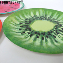 FUNNYBUNNY Watermelon Dessert Plates Sturdy Style Summer Paper Tray with 3 Types for Parties, Picnic, BBQ