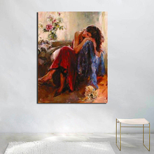 Elegant Women Pictures By Numbers DIY Drawing Canvas Painting For Living Room Decoration Wall Art Oil Painting  Posters Pictures