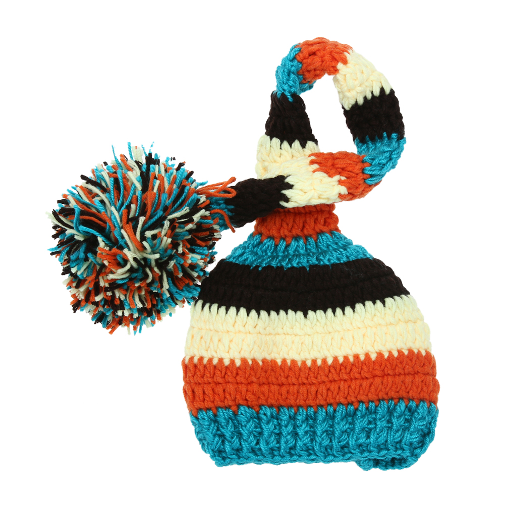 Baby Infant Winter Wool Crochet Knit Hat Toddler Kids Warm Beanie Caps Newborn Photography Props