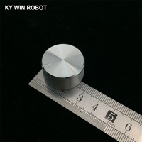 potentiometer knob 1 pcs 25x13mm Aluminum Alloy Potentiometer Knob White (D-axis) (4)