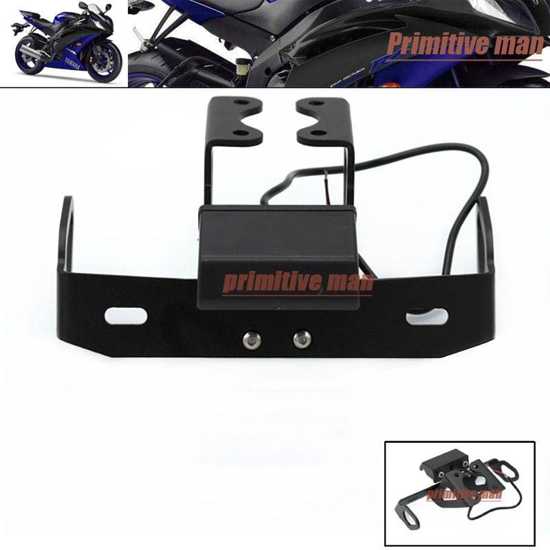 For YAMAHA YZF R6 YZFR6 YZF-R6 2006-2015 Tail Tidy Fender Eliminator Registration License Plate Holder LED Light aftermarket free shipping motorcycle parts eliminator tidy tail fit for 2006 2012 yzf r6 yzf r6 yzfr6