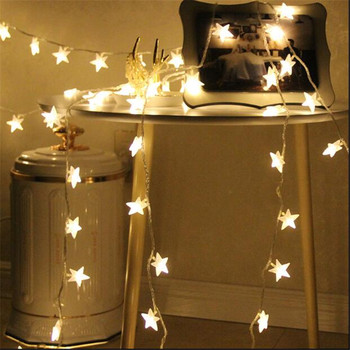 10m 50Led String Light Five-Pointed Star Party Wedding Guesthouse Window Holiday Lights Portable Decoration Lamp with Connector