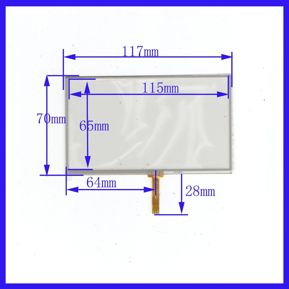5 Inch Touch Screen welding 117mm*70mm Small five inches for AT050TN33 117*70 Teclas E road navigation MP45 LH980N GPS