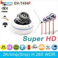 UHD 2 K h.265 IP mini cámara domo ONVIF 3mp 1080 P 5mp $ number mp 150 grados sin fisheye lente gran angular cctv cámara IP66 GANVIS GV-T454F
