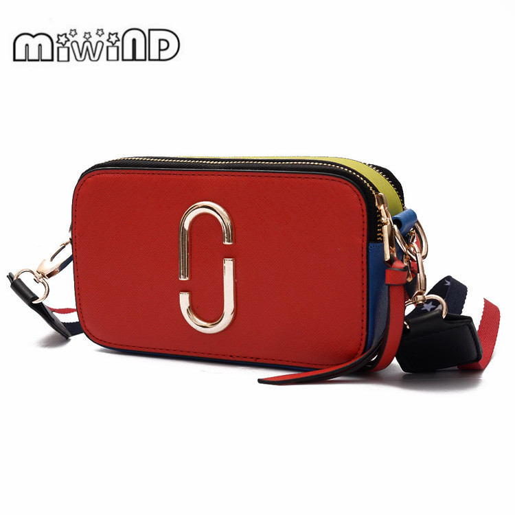 2017 MIWIND Stripe Printing Women Bag Female PU Leather Mini Crossbody Shoulder Bags Girls Messenger Bag Top-handle Handbag 2017 top handle women tassel chain small bags mini lady fashion round shoulder bag handbag pu leather sling crossbody bag female