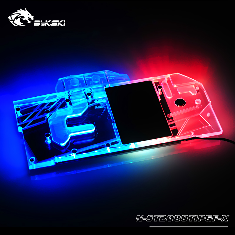 Bykski N-ST2080TIPGF-X GPU/VGA Full Cover Water Cooling Block With LED Light for ZOTAC <font><b>RTX</b></font> <font><b>2080</b></font> <font><b>Ti</b></font> <font><b>11GB</b></font> Extreme PGF OC14 image