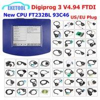 DIGIPROG 3 V4.94 Full Set All Cables Odometer Correction 2018 Original CPU FTDI Digiprog3 Digiprog 3 V4.94 Mileage Correction