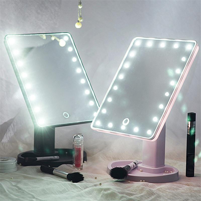 pantalla tctil de led espejo de luz ajustable grados de rotacin de la vanidad