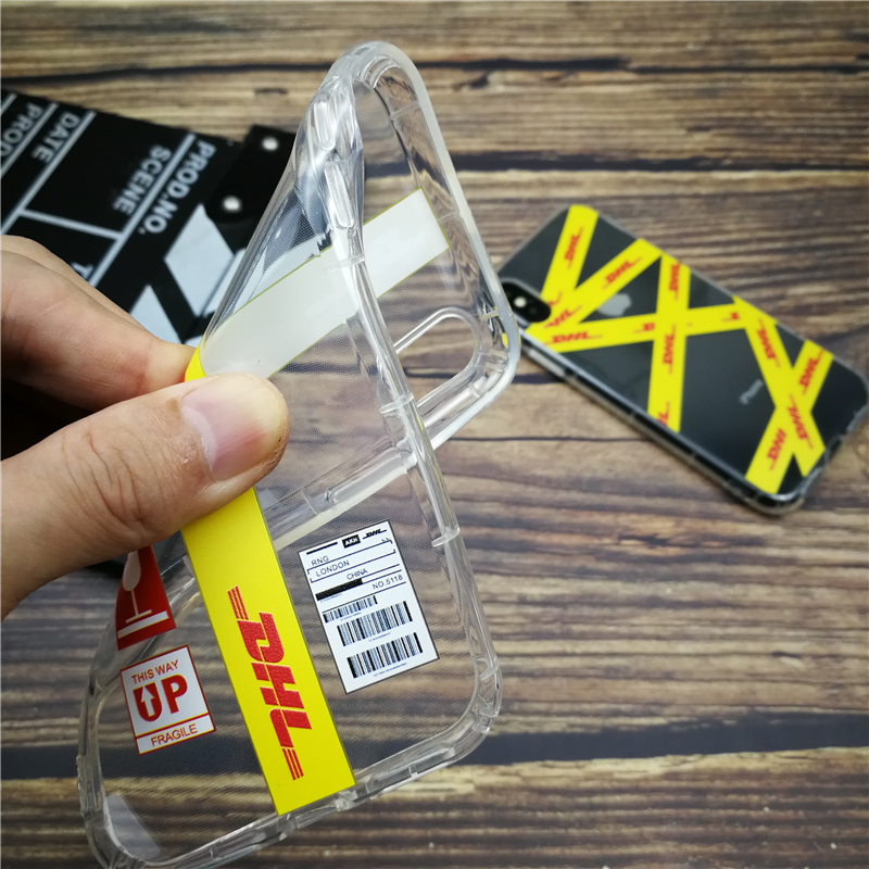 Fashion Dhl Clear Soft Case For Iphone X Xs Max Xr 8 7 6 6s Plus Silicon Phone Cover Anti fall Coque Matte Funda Capa 8plus Case in Half wrapped Cases from Cellphones Telecommunications