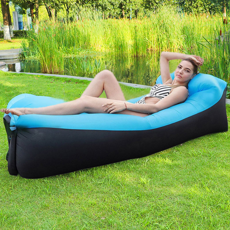 Inflatable Sofa Bed Inflatable Lounger Chair for Outdoor Camping Hiking Garden Park Beach Backyard
