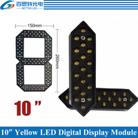 4pcs/lot 10 Yellow Color Outdoor 7 Seven Segment LED Digital Number Module for Gas Price LED Display module