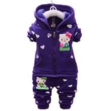 Baby Girls Clothes Set Spring Autumn Winter Kid Thicken Warm Kid Clothes Set Children Cardigan Sweaters+Pant Set