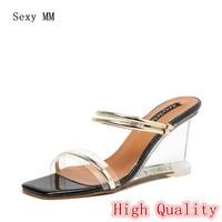 Slingbacks Women High Heel Wedge Sandals Woman Summer Shoes High Heels Wedges Gladiator Sandals High Quality