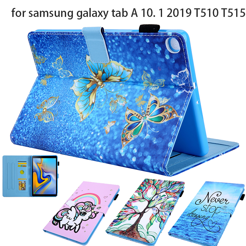 Cartoon Paintin Stand Cover For Samsung Galaxy Tab A 10.1 (2019) Case Protector Taba 10.1\