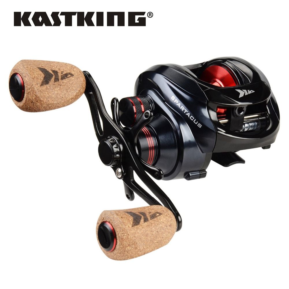 KastKing Спартак/спартак плюс Baitcasting катушка двойная тормозная система Катушка 8 кг Макс Перетащите 11 + 1 BBs 6,3: 1 высокая скорость Рыболовная катушка