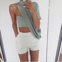 2017 New Selling Sexy Solid Color Coat White Shorts Set T80002 Women S Clothing Free Shipping