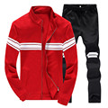 Men Sets Lovers 2 Pieces Set New Fashion Spring Autumn Leisure Striped Suit Men Casual Slim Mens Tracksuit Set Lovers Suits