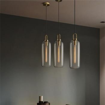 الحديثة داخلي قلادة Led أضواء زجاج قاعة صالون قلادة أضواء مصباح معلق الشمال تعليق لوفت ديكور تركيبات المنزل