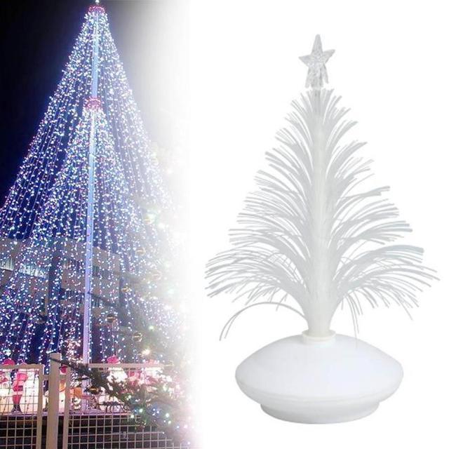 led fiber optic christmas trees colorful led fiber night light xmas christmas tree glowing small gift - Led Fiber Optic Christmas Tree