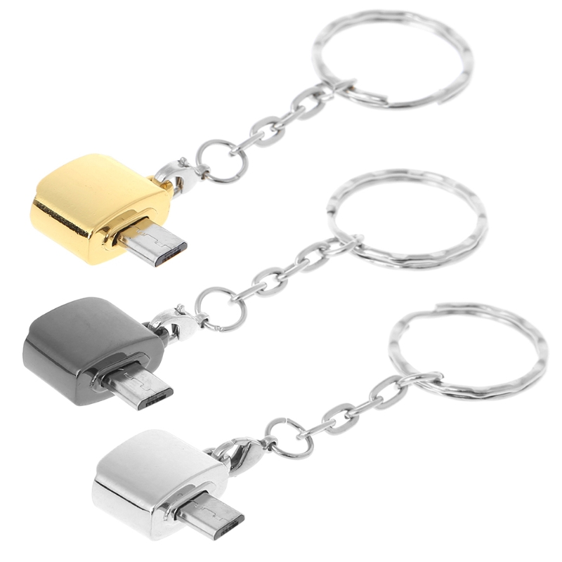 And Great Variety Of Designs And Colors Full Range Of Specifications And Sizes Dashing Micro Usb Male To Usb 2.0 Female Otg Adapter Converter With Keychain For Xiaomi Famous For High Quality Raw Materials