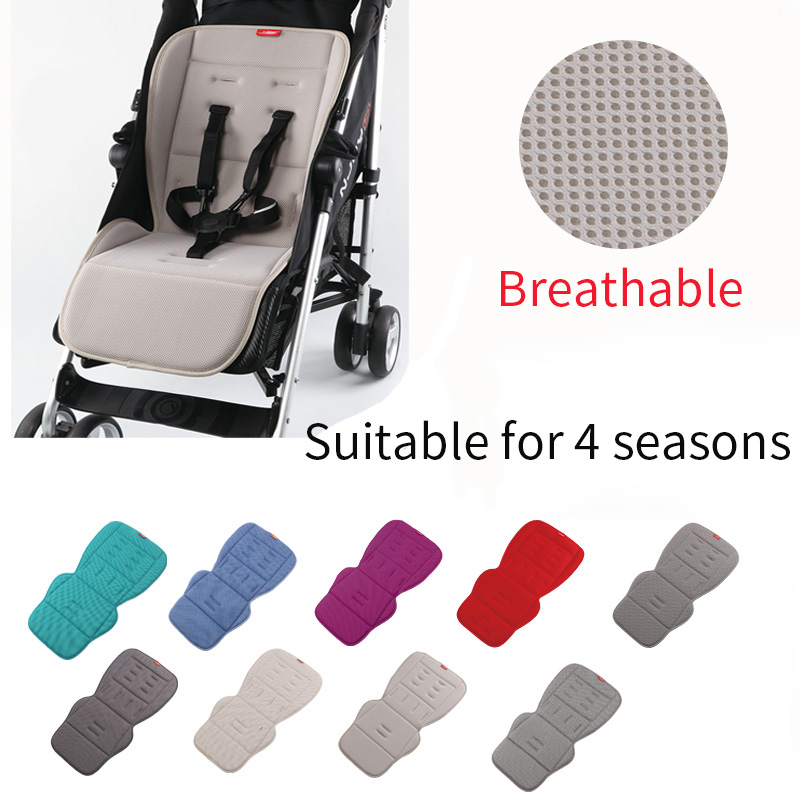 Universal Baby stroller seat cushion Breathable seat pad soft and comfortable pram liner for four seasons stroller accessories-in Strollers Accessories from Mother & Kids