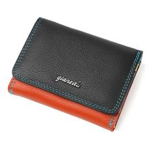 ABDB Qian Xi Lu Ladies Wallet Zipper and Hasp Purse Small Coin Purses Women Three Fold Candy Color Wallet